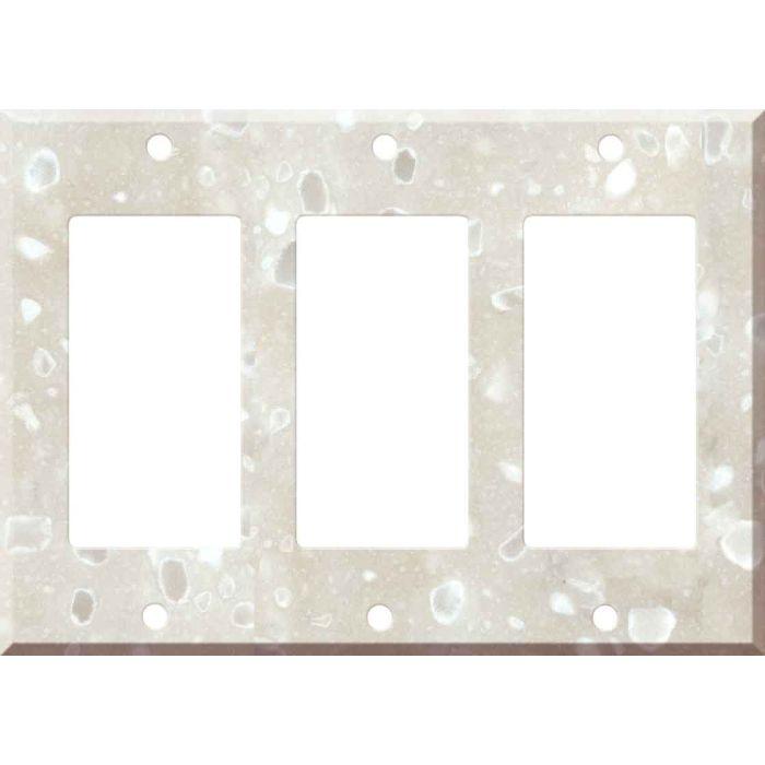 Corian Hazelnut 3 - Rocker / GFCI Decora Switch Plate Cover