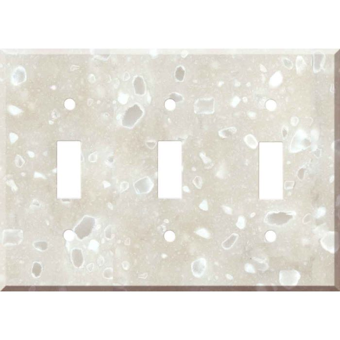 Corian Hazelnut Triple 3 Toggle Light Switch Covers