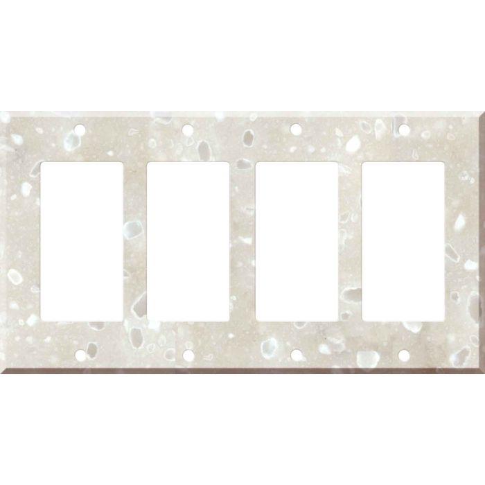 Corian Hazelnut 4 Rocker GFCI Decorator Switch Plates