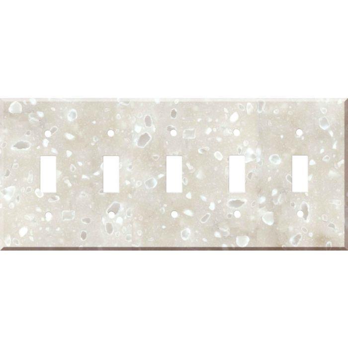 Corian Hazelnut 5 Toggle Wall Switch Plates