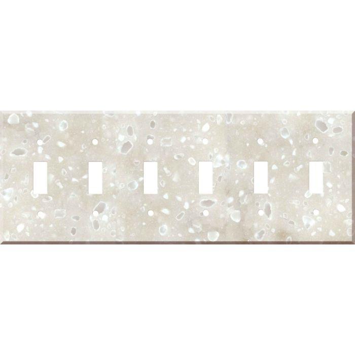 Corian Hazelnut 6 Toggle Wall Plate Covers