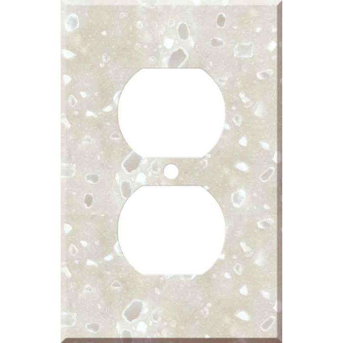 Corian Hazelnut 1 - Gang Duplex Outlet Cover Wall Plate