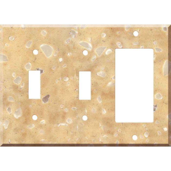 Corian Hickory Smoke 2-Toggle / 1-GFI Rocker - Combo Switch Covers