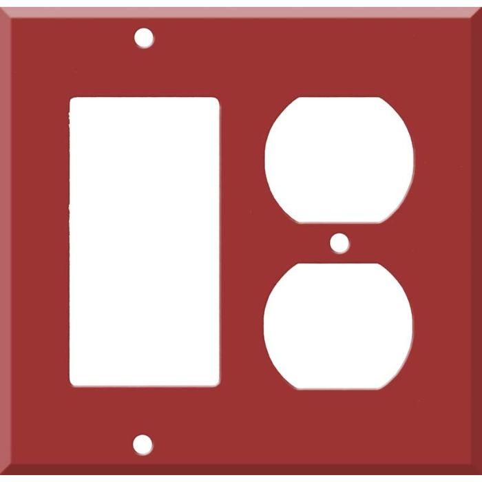 Corian Hot Combination GFCI Rocker / Duplex Outlet Wall Plates