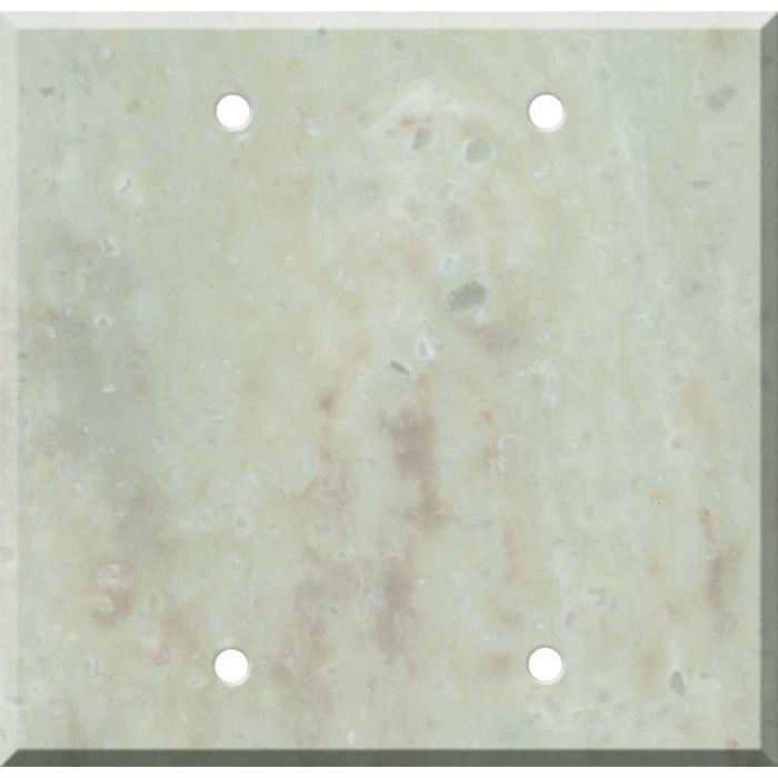 Corian Jasmine Double Blank Wallplate Covers