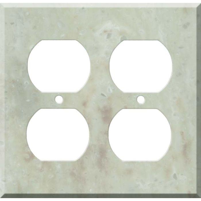 Corian Jasmine 2 Gang Duplex Outlet Wall Plate Cover