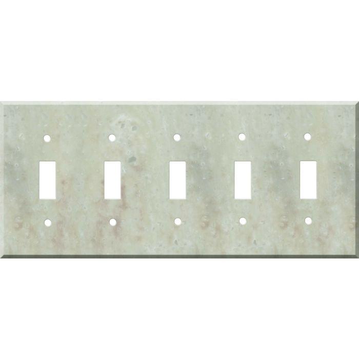 Corian Jasmine 5 Toggle Wall Switch Plates
