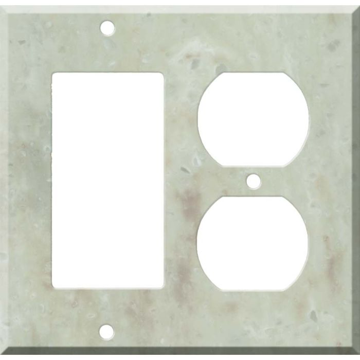 Corian Jasmine Combination GFCI Rocker / Duplex Outlet Wall Plates