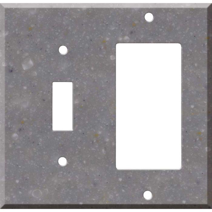Corian Juniper Combination 1 Toggle / Rocker GFCI Switch Covers