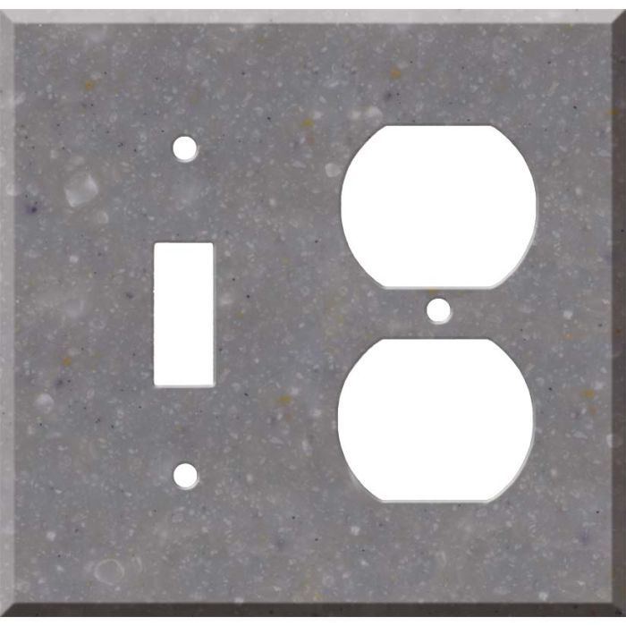 Corian Juniper 1 Toggle Wall Switch Plate - Outlet Cover Combination