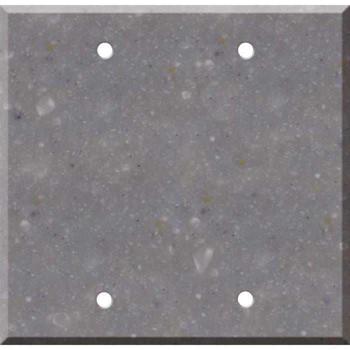 Corian Juniper 2 Double Blank Wall Plates