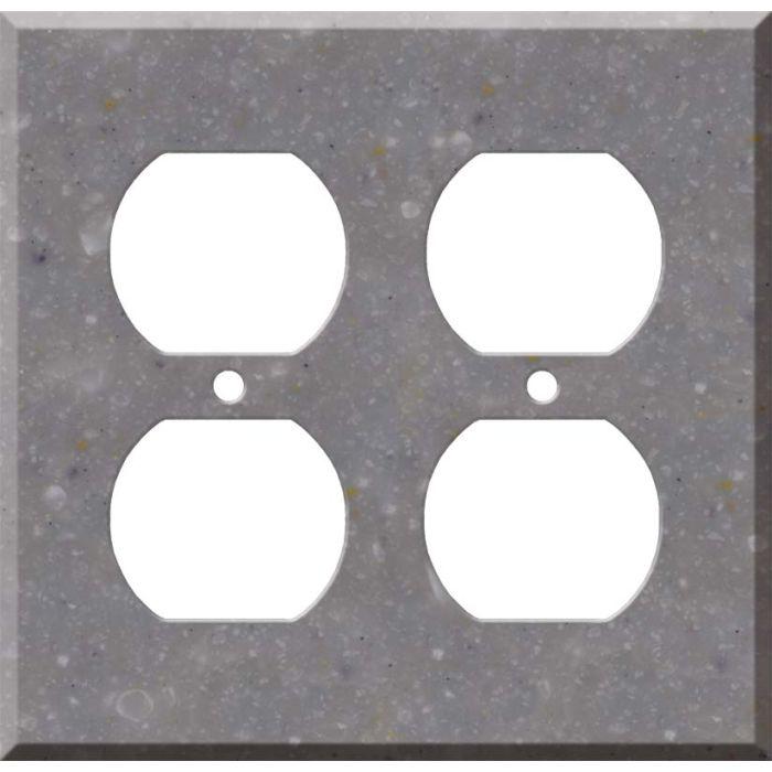 Corian Juniper 2 Gang Duplex Outlet Wall Plate Cover