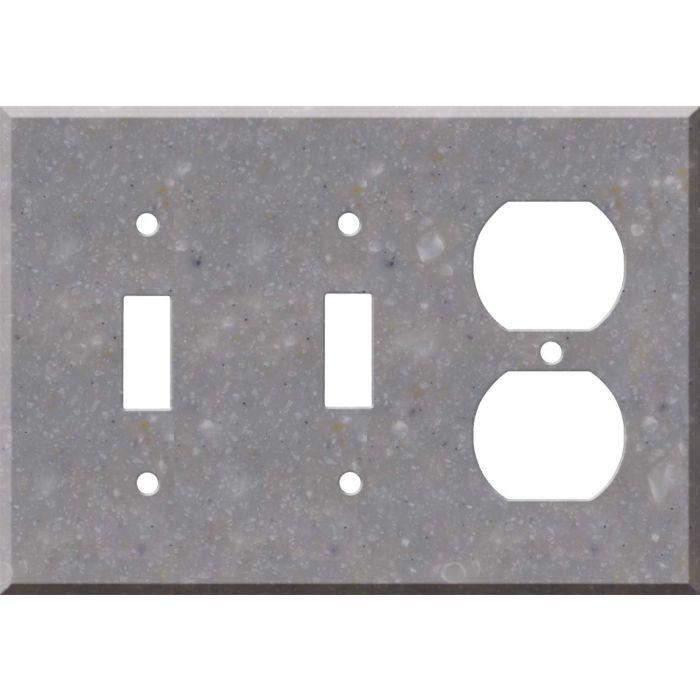 Corian Juniper 2-Toggle / 1-Duplex Outlet - Combination Wall Plates