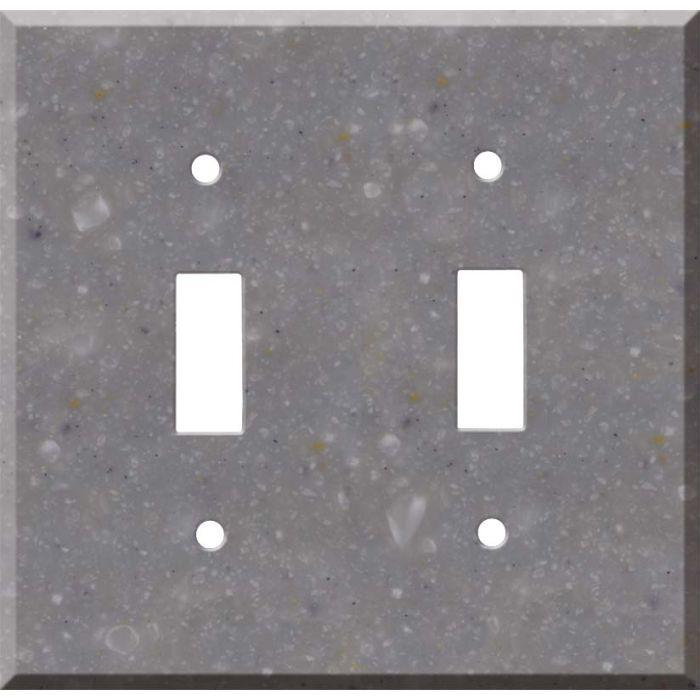 Corian Juniper 2 Toggle Switch Plates
