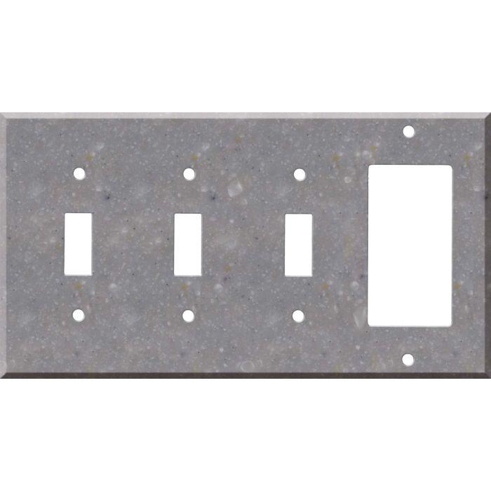 Corian Juniper 3-Toggle / 1-Decorator / Rocker - Combination Wall Plates