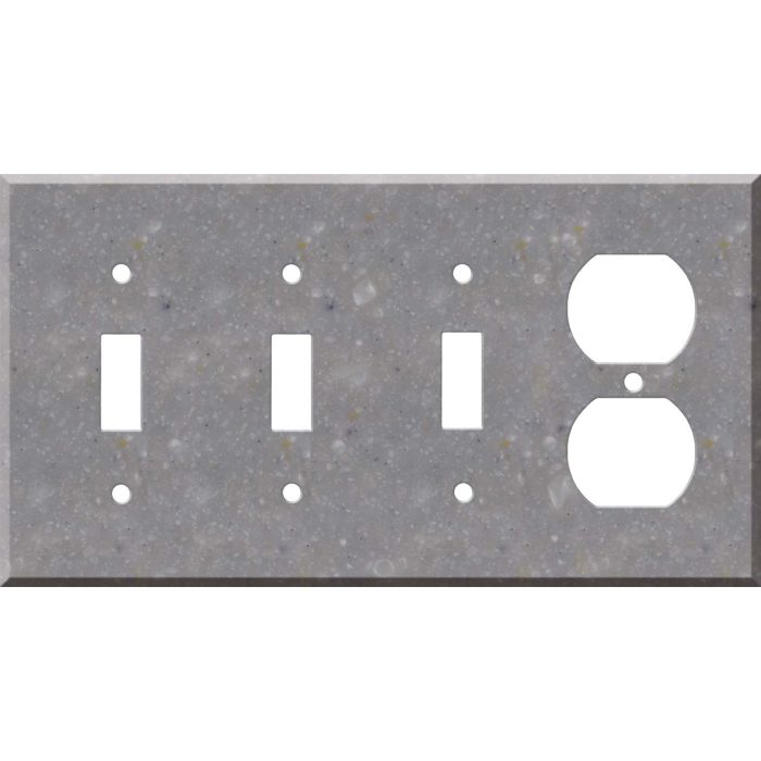 Corian Juniper 3-Toggle / 1-Duplex - Combination Wall Plates