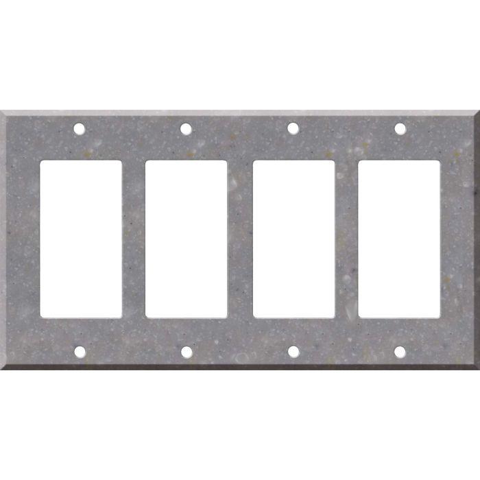 Corian Juniper 4 Rocker GFCI Decorator Switch Plates