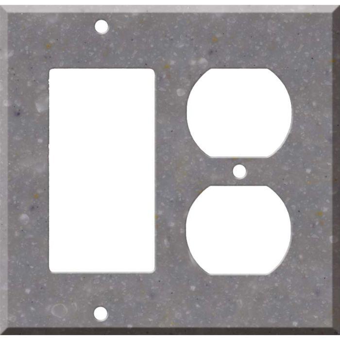 Corian Juniper Decora GFCI Rocker / Duplex Outlet Combination Wall Plate