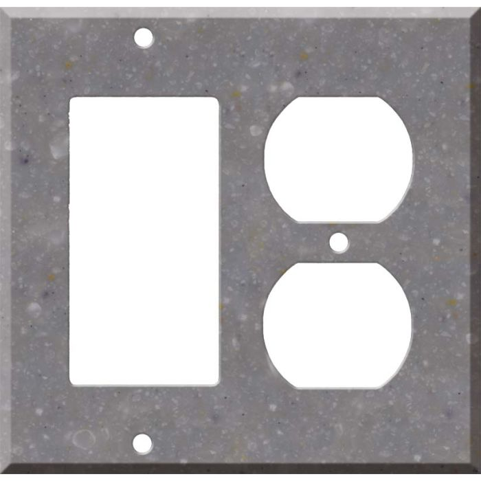 Corian Juniper Combination GFCI Rocker / Duplex Outlet Wall Plates
