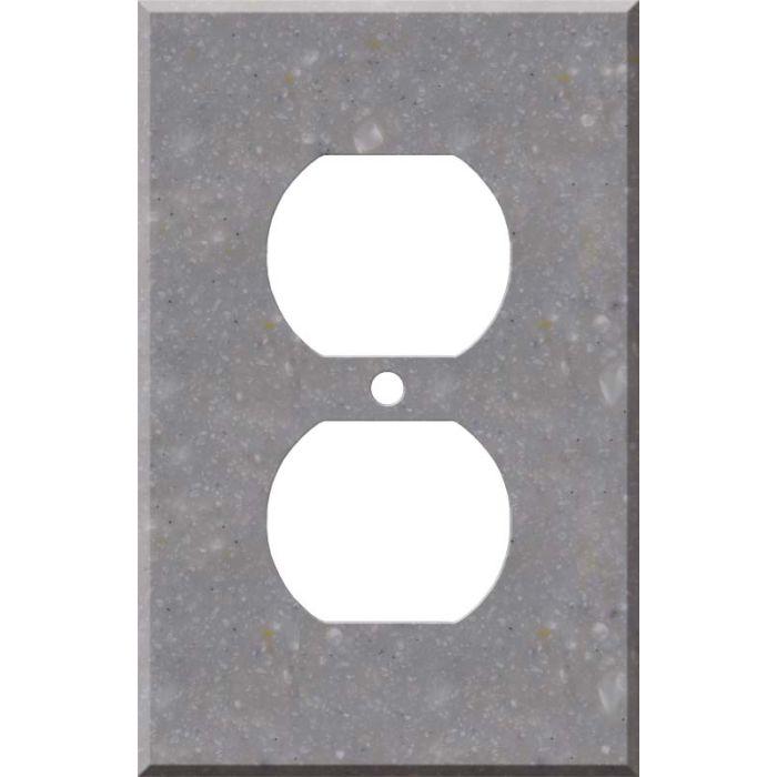 Corian Juniper 1 - Gang Duplex Outlet Cover Wall Plate