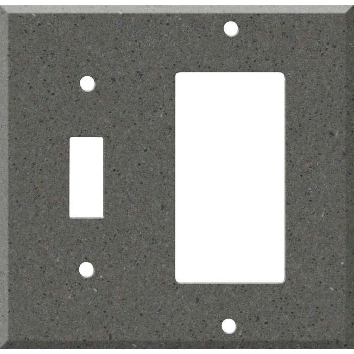Corian Lava Rock Combination 1 Toggle / Rocker GFCI Switch Covers