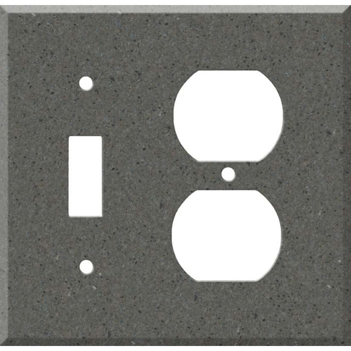 Corian Lava Rock Combination 1 Toggle / Outlet Cover Plates
