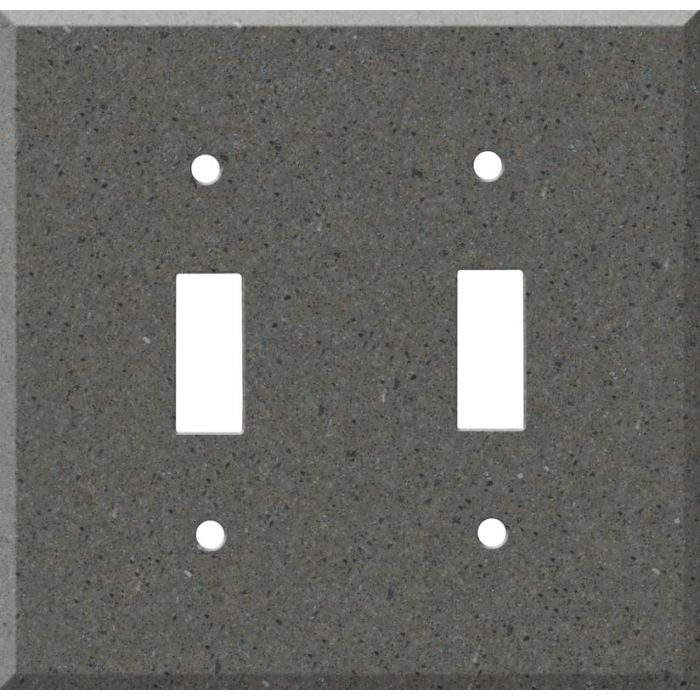Corian Lava Rock Double 2 Toggle Switch Plate Covers
