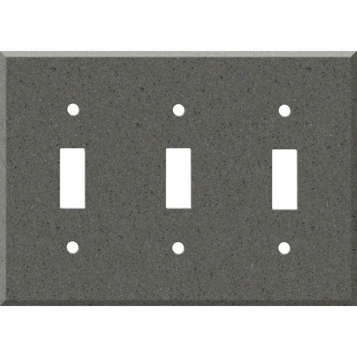 Corian Lava Rock Triple 3 Toggle Light Switch Covers