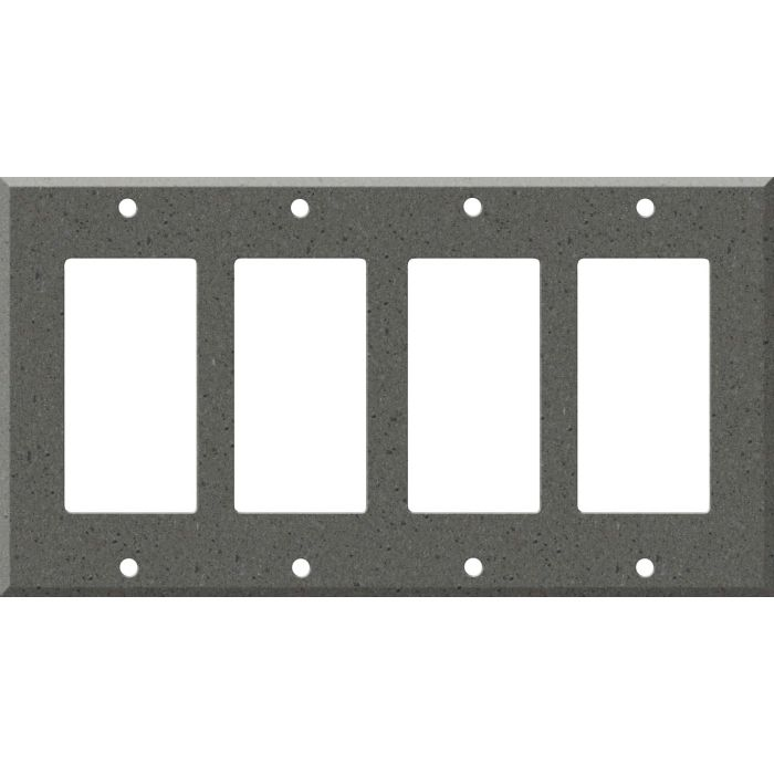 Corian Lava Rock 4 Rocker GFCI Decorator Switch Plates