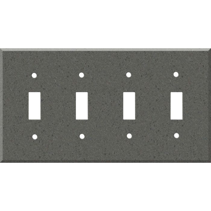 Corian Lava Rock Quad 4 Toggle Light Switch Covers
