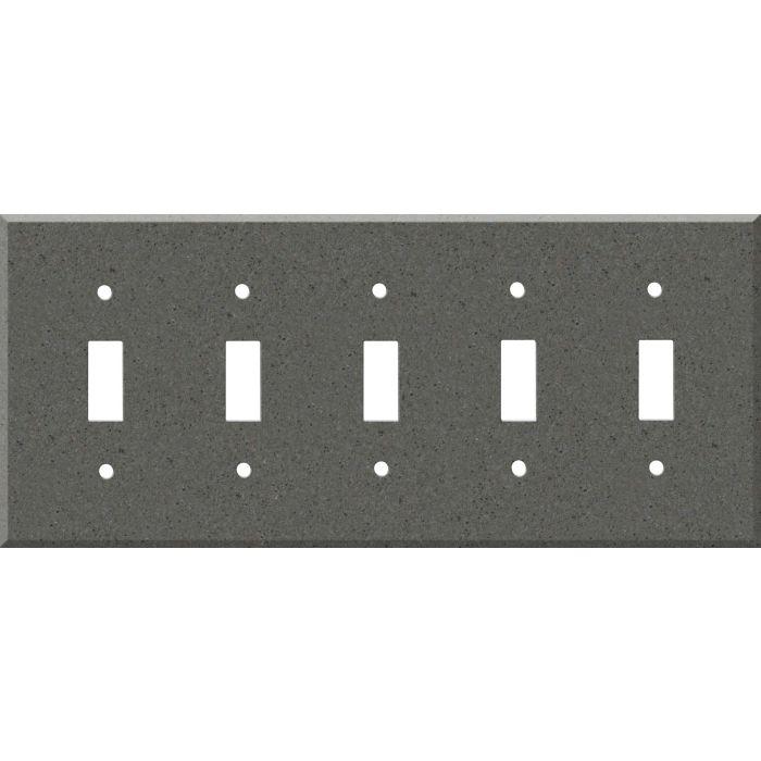 Corian Lava Rock 5 Toggle Wall Switch Plates