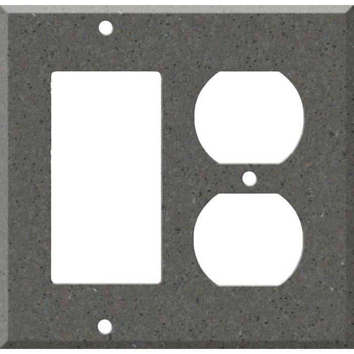 Corian Lava Rock Combination GFCI Rocker / Duplex Outlet Wall Plates