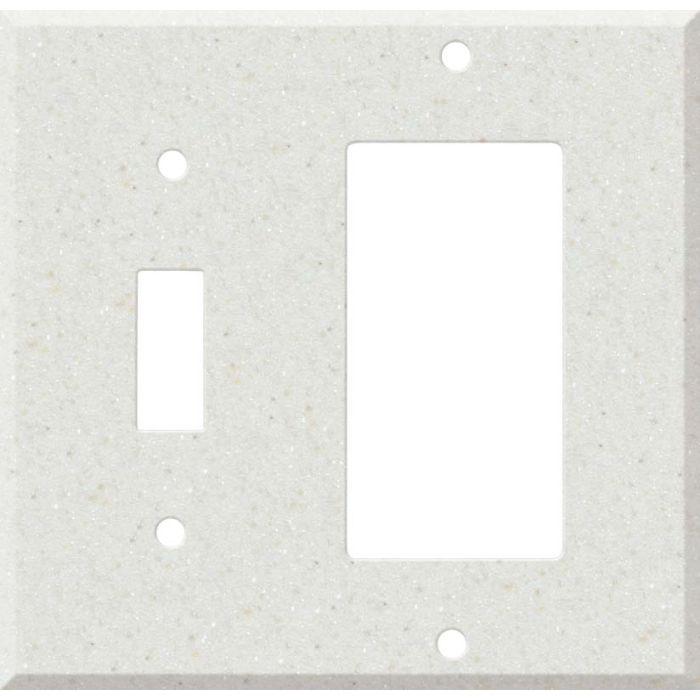 Corian Linen Combination 1 Toggle / Rocker GFCI Switch Covers