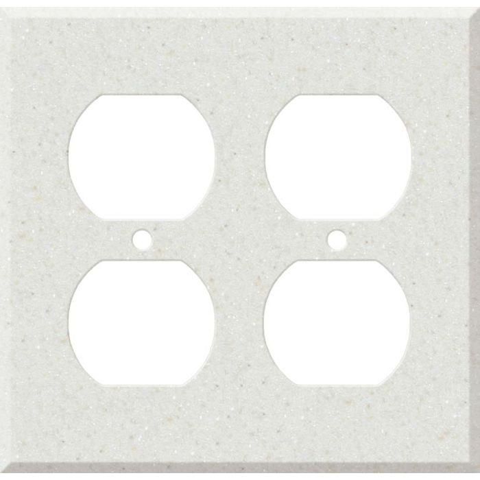 Corian Linen 2 Gang Duplex Outlet Wall Plate Cover