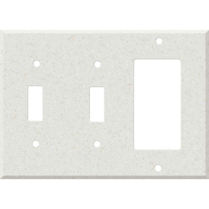 Corian Linen Double 2 Toggle / 1 GFCI Rocker Combo Switchplates