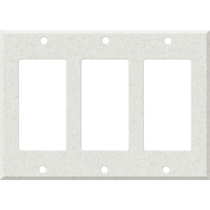 Corian Linen 3 - Rocker / GFCI Decora Switch Plate Cover