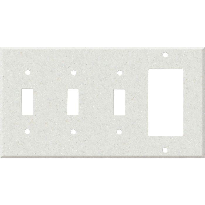Corian Linen 3-Toggle / 1-Decorator / Rocker - Combination Wall Plates