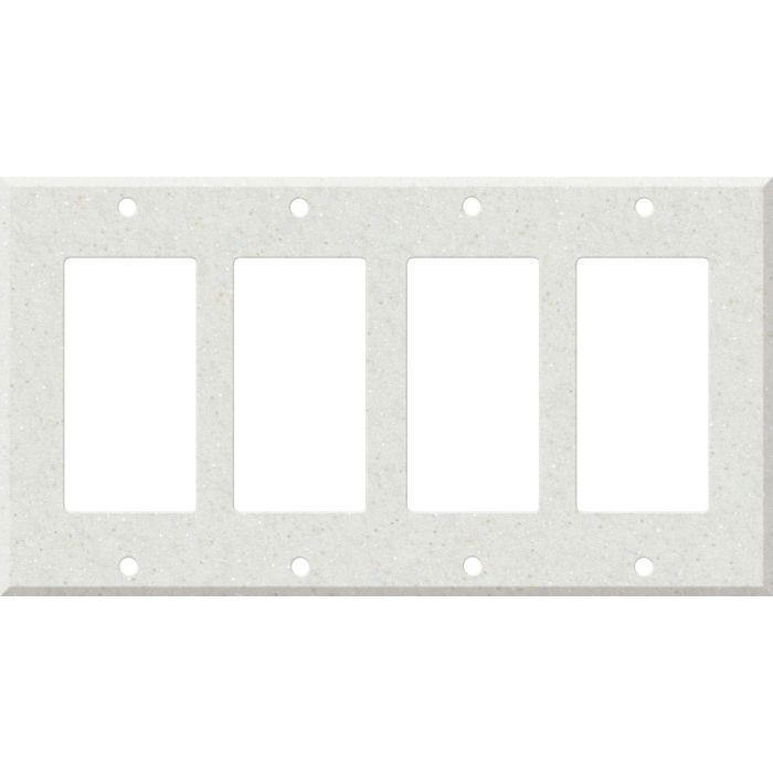 Corian Linen 4 Rocker GFCI Decorator Switch Plates