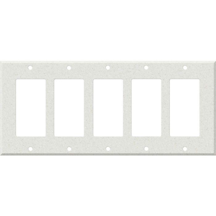 Corian Linen 5 GFCI Rocker Decora Switch Covers