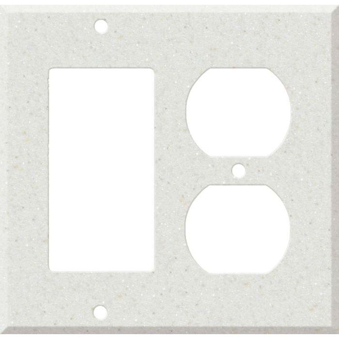 Corian Linen Decora GFCI Rocker / Duplex Outlet Combination Wall Plate