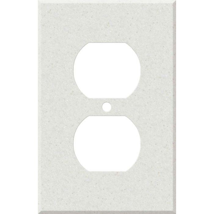 Corian Linen 1 - Gang Duplex Outlet Cover Wall Plate