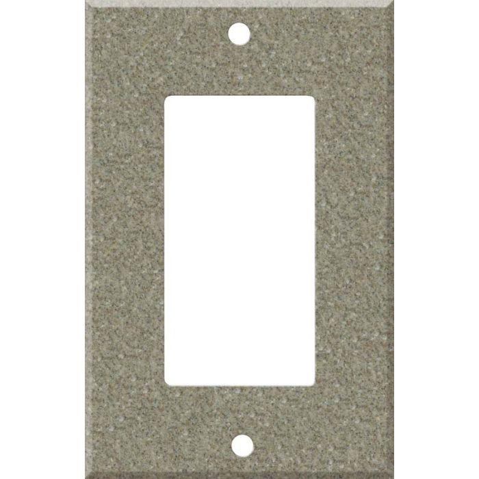 Corian Matterhorn Single 1 Gang GFCI Rocker Decora Switch Plate Cover
