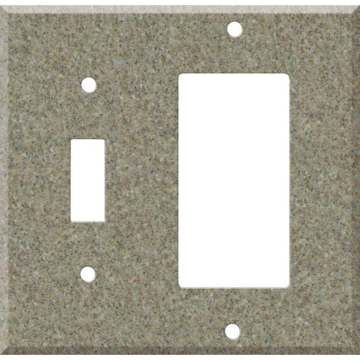 Corian Matterhorn 1 Toggle Wall Switch Plate - GFI Rocker Cover Combo