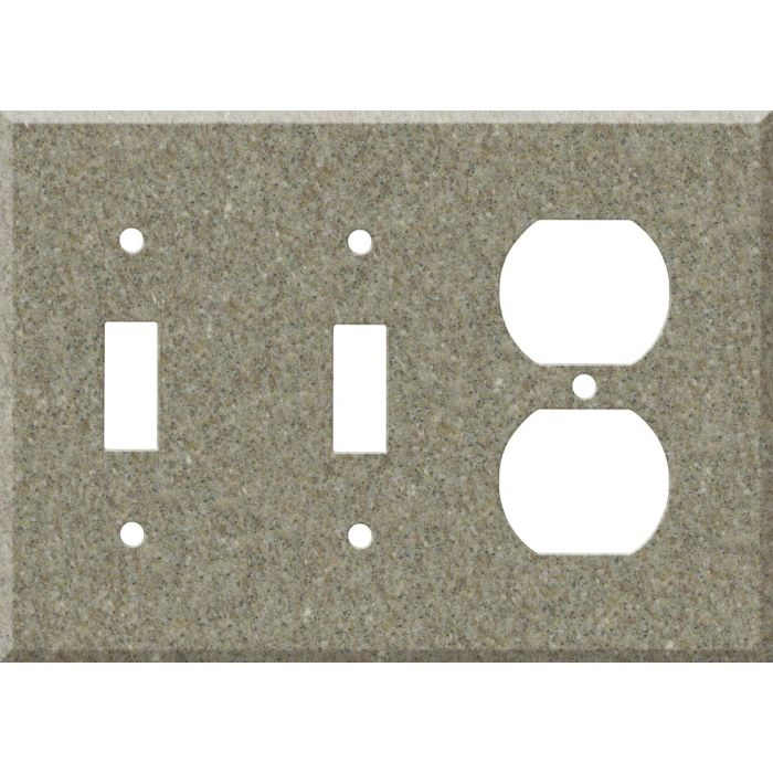 Corian Matterhorn Double 2 Toggle / Outlet Combination Wall Plates