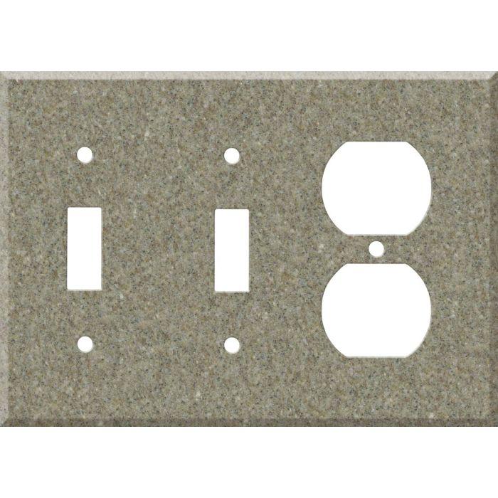Corian Matterhorn 2-Toggle / 1-Duplex Outlet - Combination Wall Plates