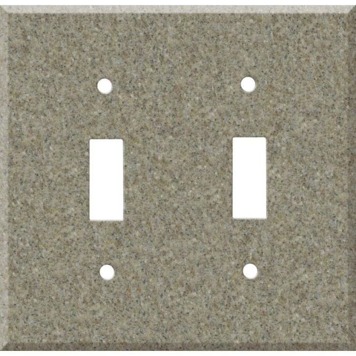 Corian Matterhorn Double 2 Toggle Switch Plate Covers
