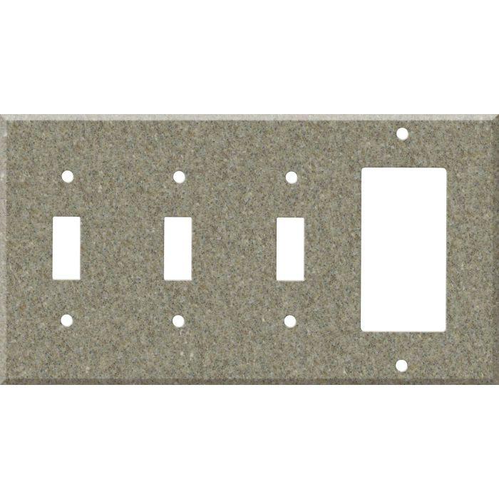 Corian Matterhorn 3-Toggle / 1-Decorator / Rocker - Combination Wall Plates