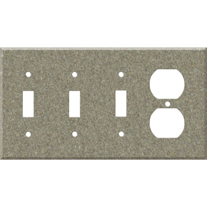 Corian Matterhorn Combination Triple 3 Toggle / Outlet Wall Plate Covers