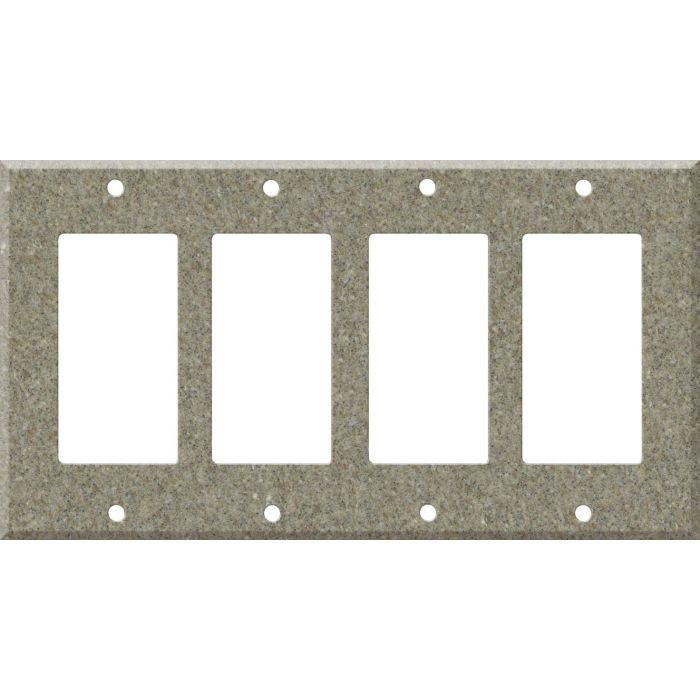 Corian Matterhorn 4 Rocker GFCI Decorator Switch Plates