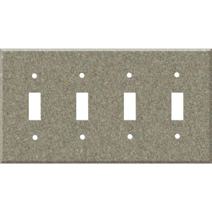 Corian Matterhorn 4 - Toggle Light Switch Covers & Wall Plates